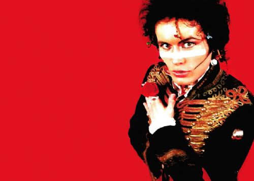 ADAM ANT - RED LANDSCAPE PAINT POSE canvas print - self adhesive poster - photo print